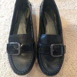 Cole Haan black patent leather flats size 9